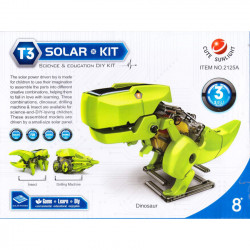SOLAR KIT, 3 IN 1, DINOSAUR...