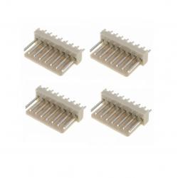 8-WAY 2.54MM PLUG (MALE) PKG/4