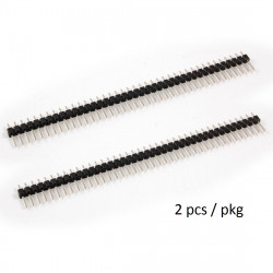 HEADER PINS 1X40 2/PKG, BLACK