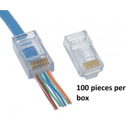 RJ45 CAT6 END PASS THROUGH...