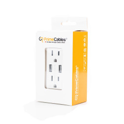 2 WALL OUTLET WITH DUAL USB...
