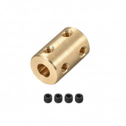 BRASS SHAFT COUPLER, 6MM TO...