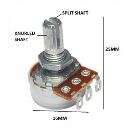 POTENTIOMETER, LOG A250K,...