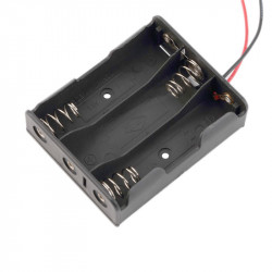 BATTERY HOLDER, AAx3, w/WIRE