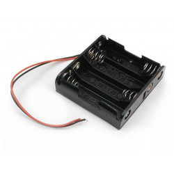 BATTERY HOLDER, AAx4, SIDE...