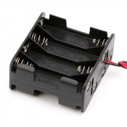 BATTERY HOLDER, AAx8, BACK...