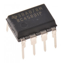 IC RC4580IP DUAL OP-AMP 8P-DIP