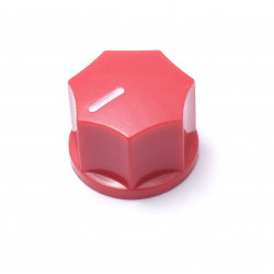 KNOB, MINI FLUTED, RED,...