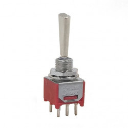 TOGGLE SWITCH, DPDT, ON-ON,...