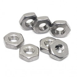 NICKLE PLATED HEX NUTS 4-40...