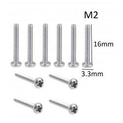 SCREW M2X16 ROUND 25PC/PKG