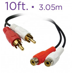 AUDIO CABLE, 2 RCA(M) TO 2...