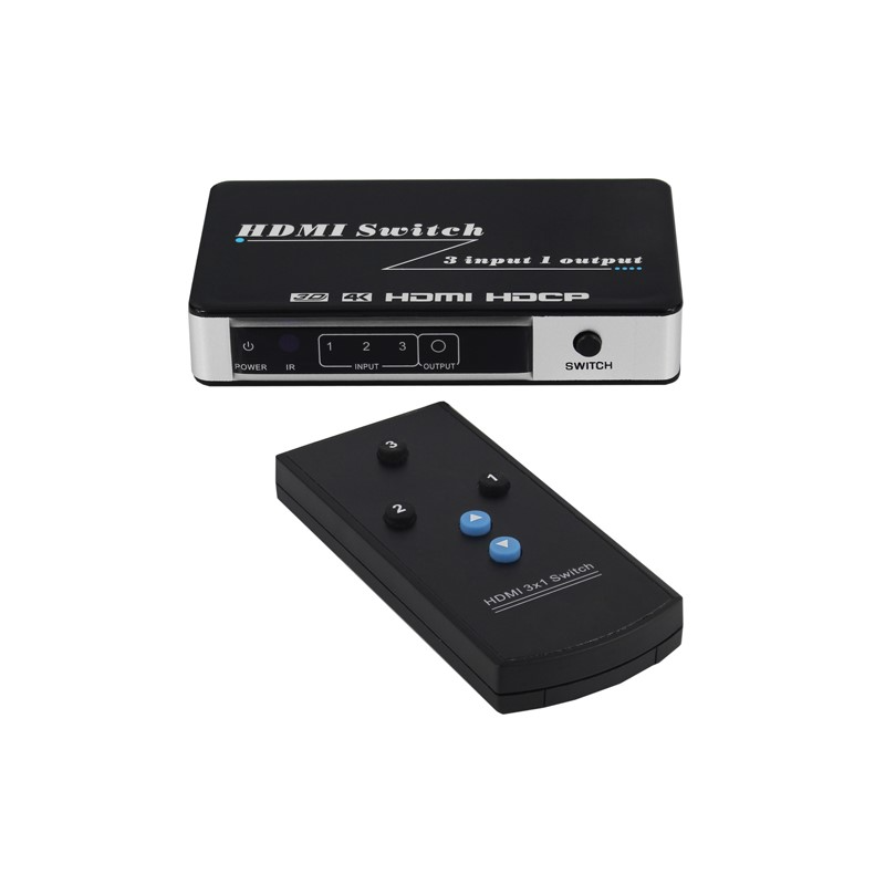 HDMI SWITCH BOX 3-IN 1-OUT W/REMOTE