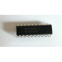 IC, MSP430G2452IN20, 16-BIT MICROCONTROLLER