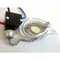 PULL CHAIN SWITCH, 6A, AC,...