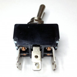 TOGGLE SWITCH DPDT, ON-OFF-ON, 125V, 10A