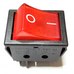 ROCKER SWITCH W/LAMP ON-OFF (RED) R210-C5L-BR DPST