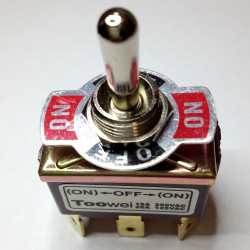 TOGGLE SWITCH,DPDT,(ON)-OFF-(ON),20A,SOLDER T702MT