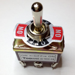 TOGGLE SWITCH,DPDT,ON-OFF-ON,20A,SCREW ON