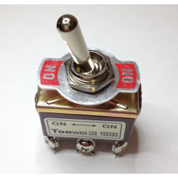 TOGGLE SWITCH,DPDT,ON-ON,20A,SCREW ON T702 BW