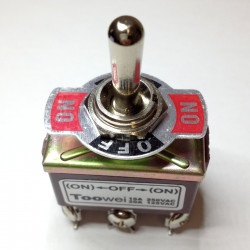 TOGGLE SWITCH,DPDT,(ON)-OFF-(ON),20A,SCREW T702MW