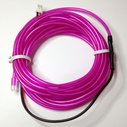 EL WIRE, PRE-ASSEMBLED, PURPLE, 3 METER