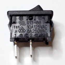 ROCKER SWITCH ON-OFF 125V - 250VAC 10A R13-121 2PIN