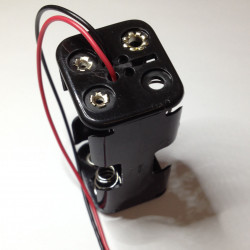 BATTERY HOLDER, AAx4, BACK TO BACK, w/WIRE SQRD