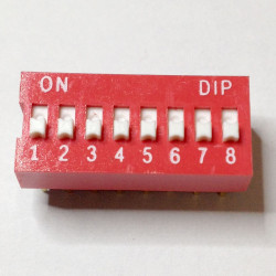 DIP SWITCH 8-POSITION