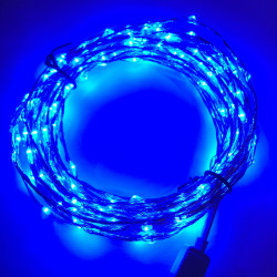 LED STRING LIGHT BLUE 12V 10M 207LED IP67