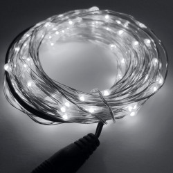 LED STRING LIGHT WHITE 12V 10M 100LED IP67