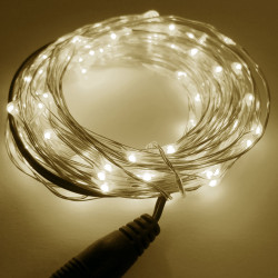 LED STRING LIGHT WARM WHITE 12V 10M 100LED IP67