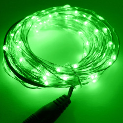 LED STRING LIGHT GREEN 12V 10M 100LED IP67