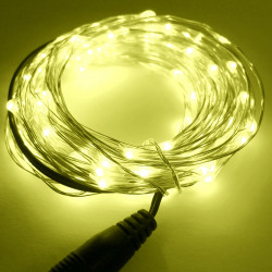 LED STRING LIGHT YELLOW 12V 10M 100LED IP67