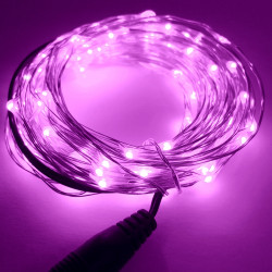 LED STRING LIGHT PURPLE 12V 10M 100LED IP67