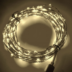 LED STRING LIGHT WARM WHITE 12V 10M 207LED IP67