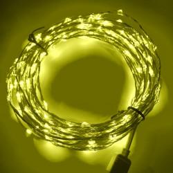 LED STRING LIGHT YELLOW 12V 10M 207LED IP67