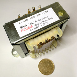 TRANSFORMER 60VA STEP DOWN/UP ISOLATED