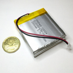 BATTERY, RECHARGEABLE, LI-POLY, 3.7V, 6000mAh