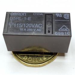 RELAY, OMRON, G5RL-1-E SPDT, 110VAC COIL, 16A