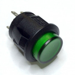 PUSH BUTTON W/GREEN LED...
