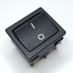 ROCKER ON-OFF SWITCH WIDE STYLE, DPST, 10A