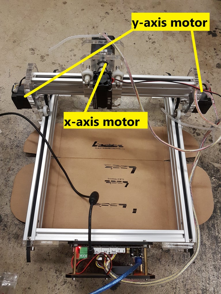 Picture of Assemble the Y-axis Stepper Motor