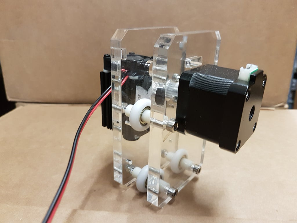 Picture of Assembling the X-axis Motor and Laser Mount